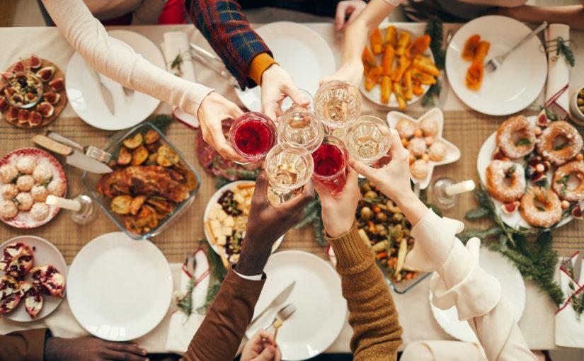 Fest med mad og drikke